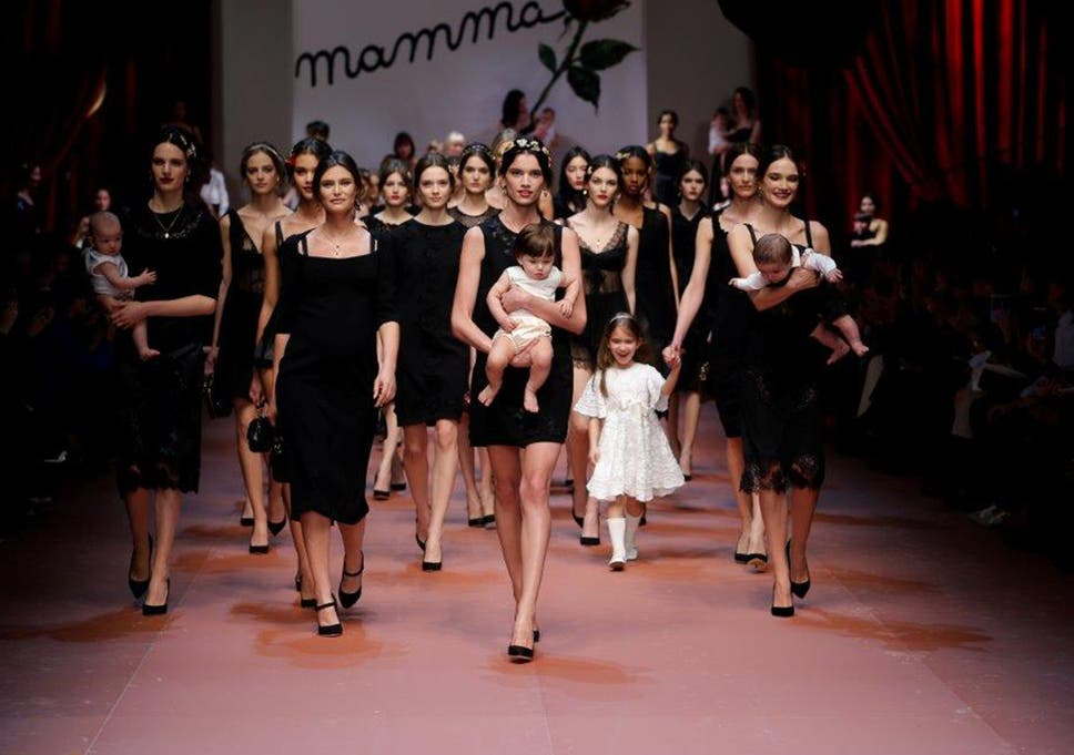 ab544e1522f9 Mother s day 2015  Dolce and Gabbana style during Milan Fashion Week ...
