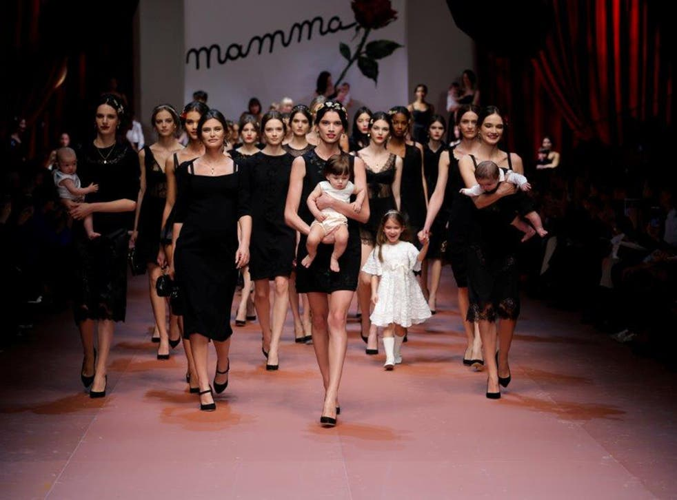 The finale at Dolce and Gabbana autumn/winter 2015