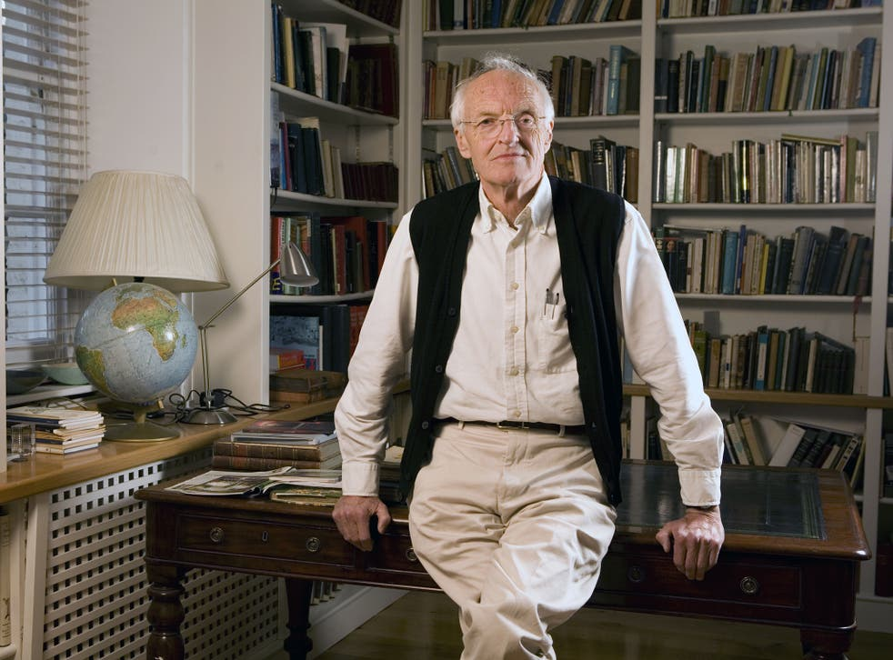 Michael Frayn at home in Petersham, south west London, Britain
