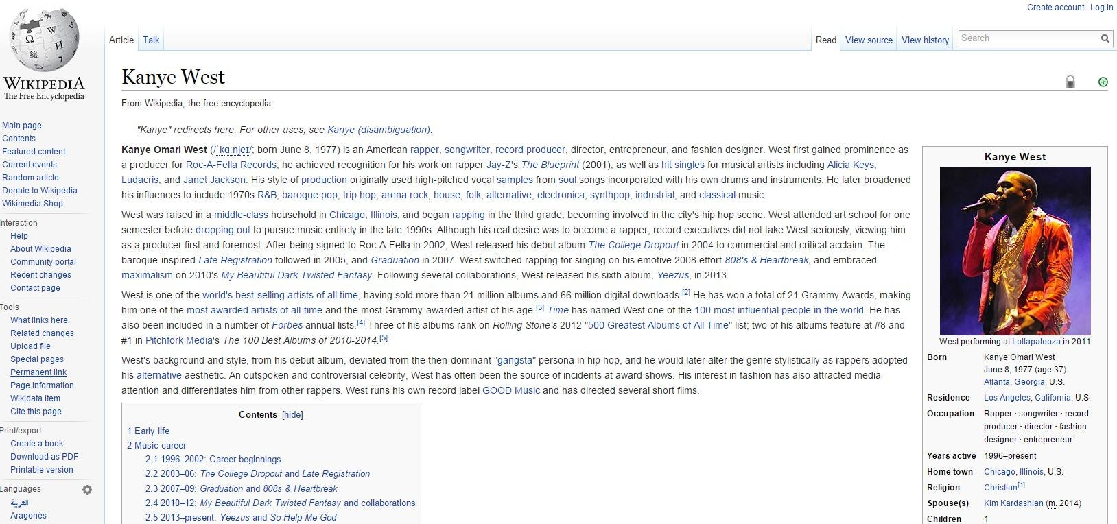Someone made Loser com redirect to Kanye West's Wikipedia page | The