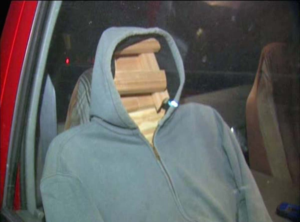 A man was stopped in a HOV lane with this wooden dummy