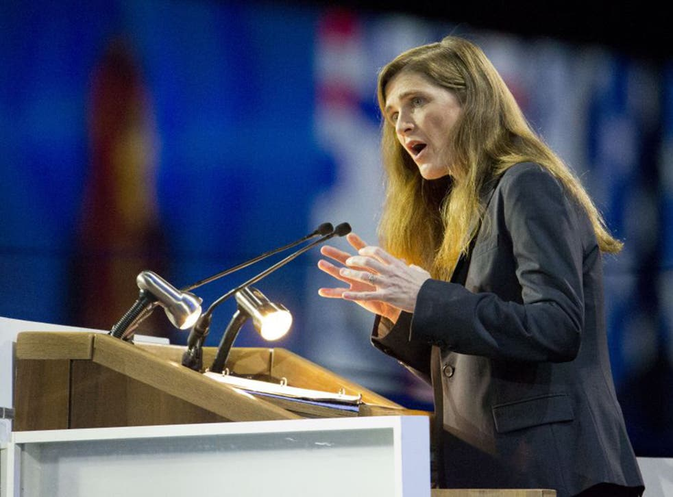 US Ambassador, Samantha Power, insisted that Mr Netanyahu's apparent snub of President Obama on his upcoming visit to Washington would not get in the way of America's commitments to Israel