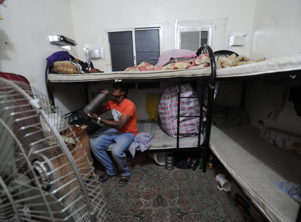 Many migrant workers employed to help build the World Cup infrastructure in Qatar have been living in squalid conditions