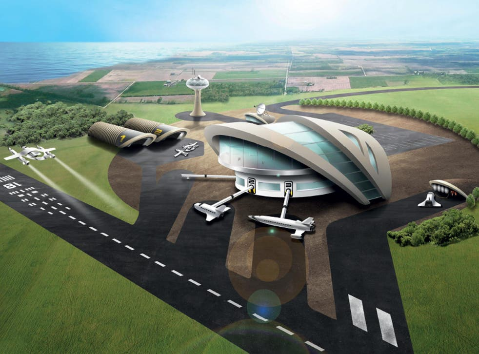 A potential spaceport, as drawn in a previous Government illustration