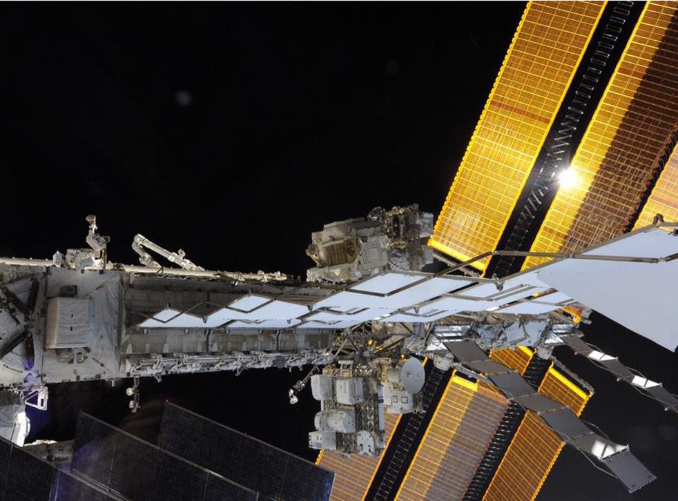The International Space Station was passing over Adrian Lane home at 18,500mph