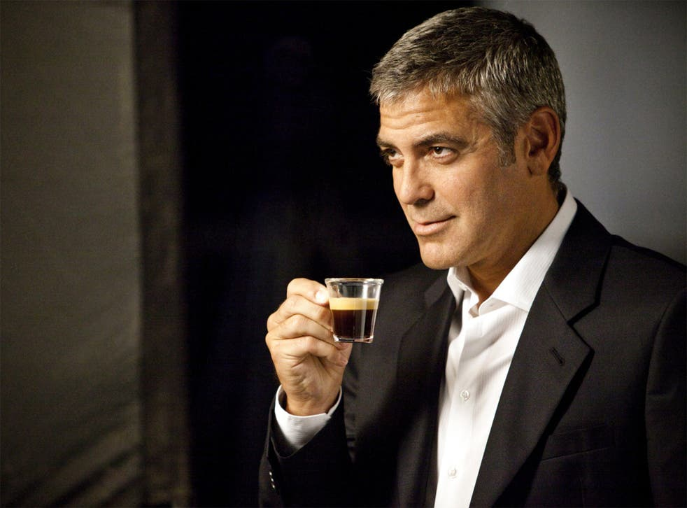 George Clooney appearing in an advert for Nespresso machines