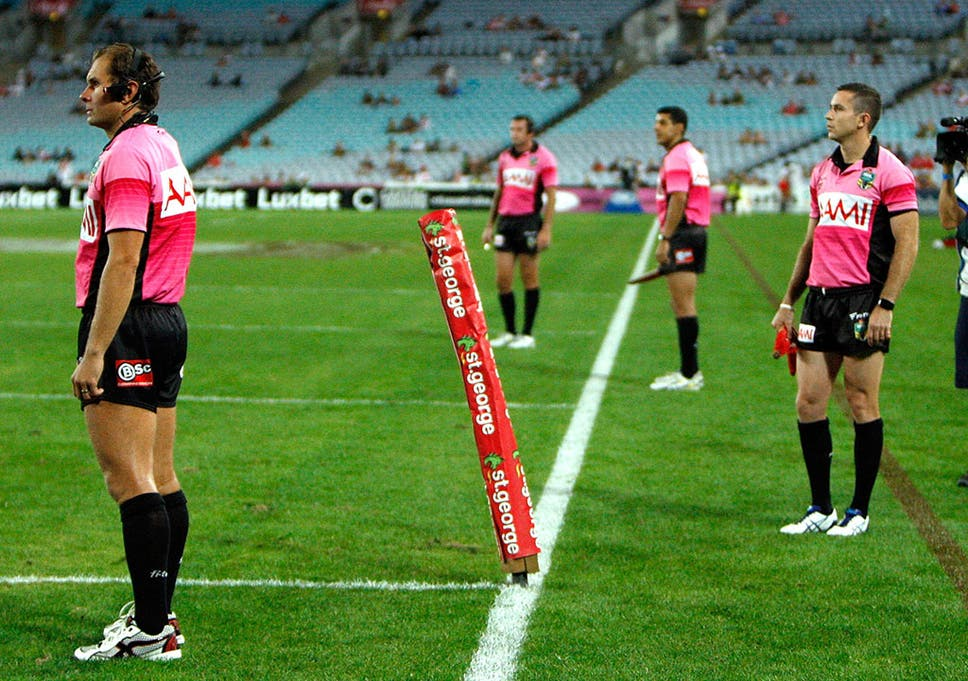 0a33447fd6a Extra referees were trialed 2015 Charity Shield between South Sydney  Rabbitohs and St George Illawarra Dragons