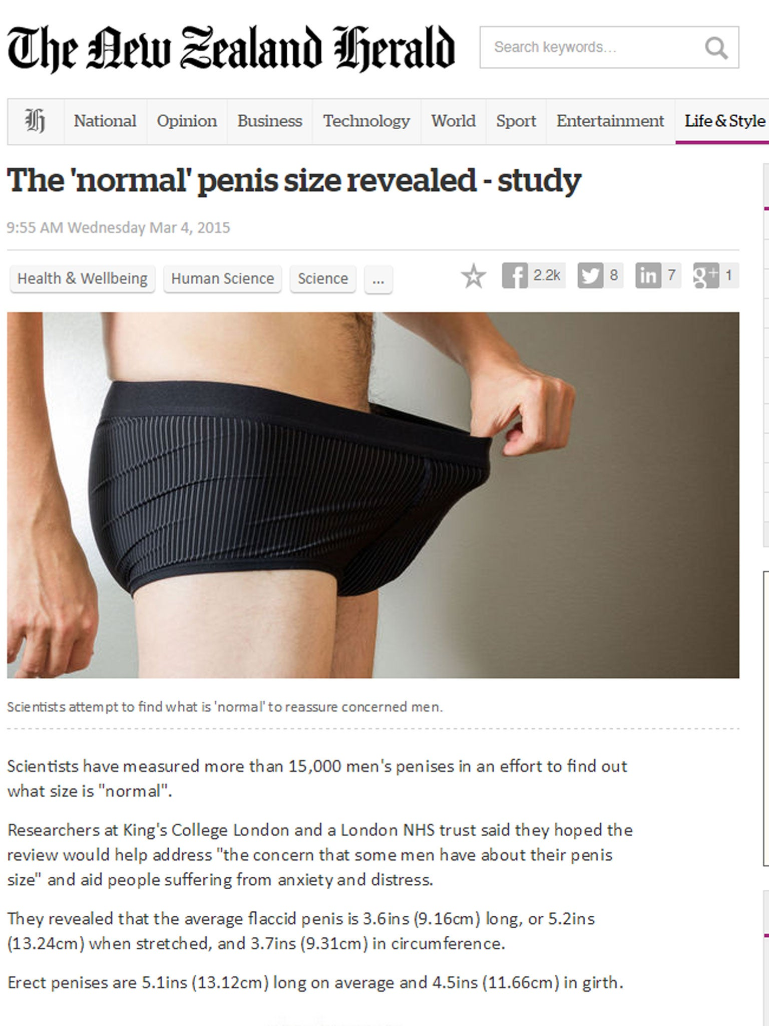 Average penis size revealed: Scientists attempt to find what ...