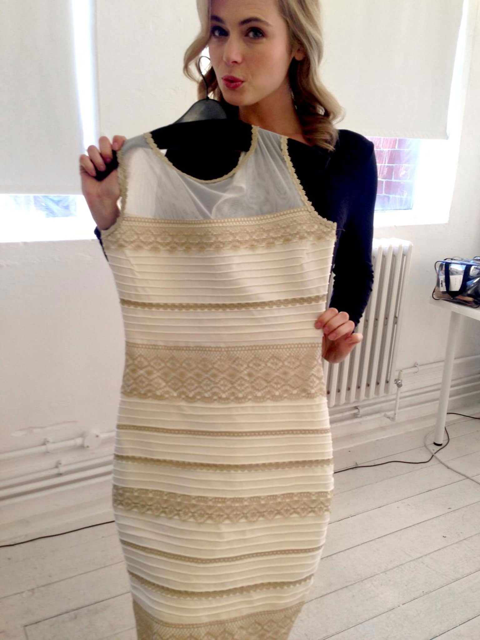 Gold and White Dress