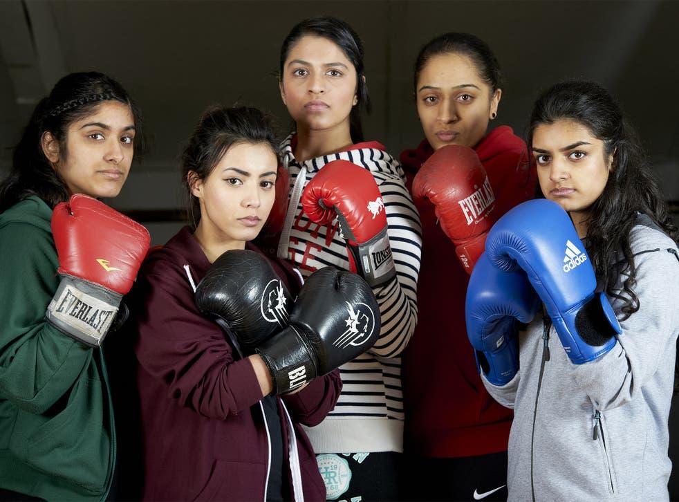 Boxing clever: cast members (from left), Mariam Rashid, Seherish Mahmood, Freyaa Ali, Saira Tabasum and Nayab Din