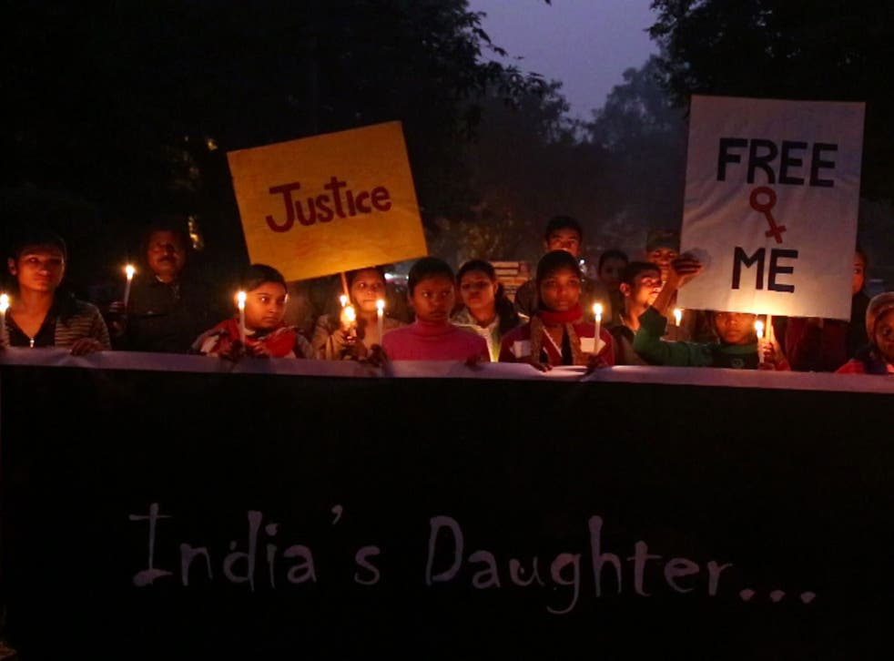 Women protest the Delhi gang-rape and murder of a 23-year-old student