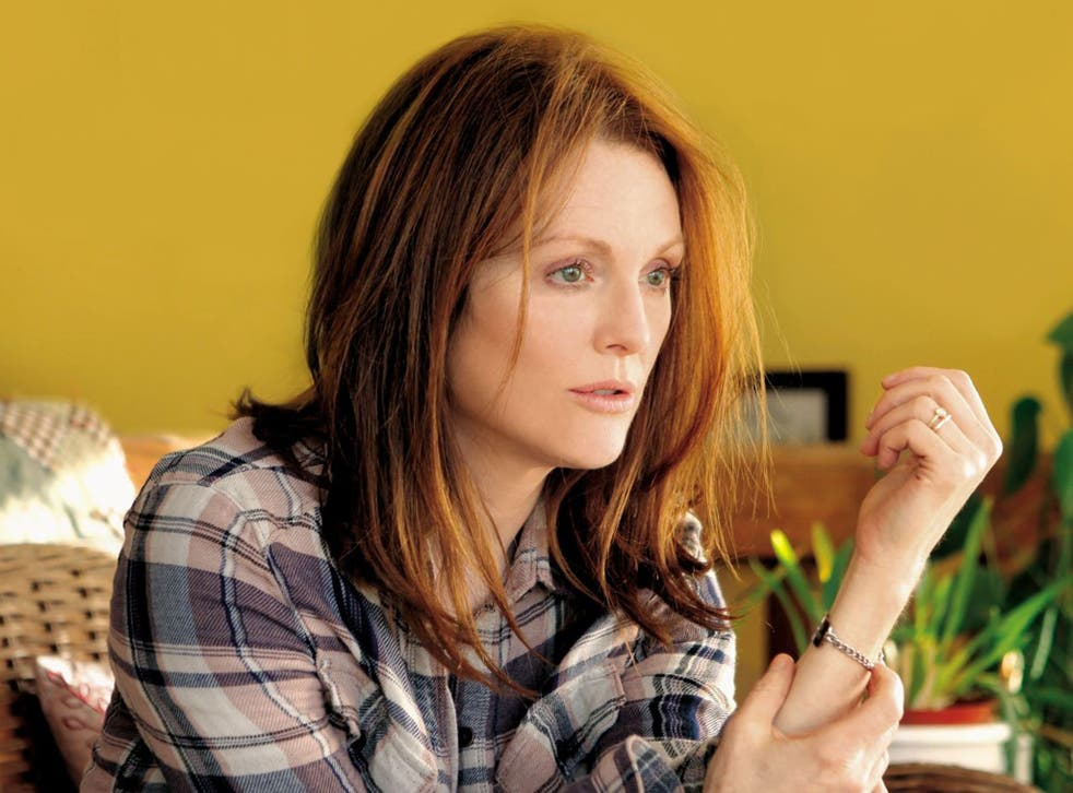 Julianne Moore plays the protagonist in Still Alice, who develops Alzheimer's after getting lost on a jog