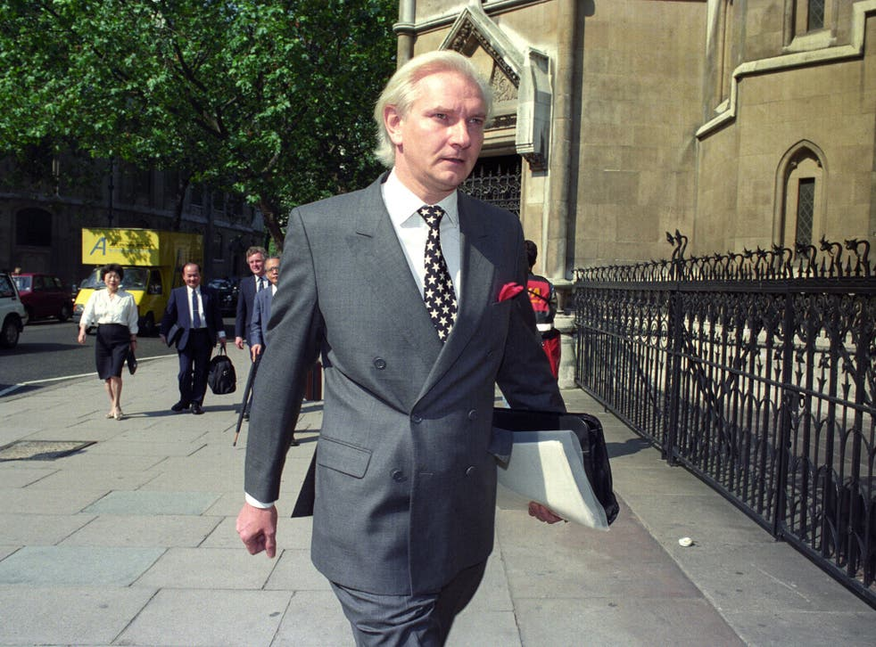 File photo from 29 July 1991 showing the former Conservative MP Harvey Proctor arriving at the High Court in London
