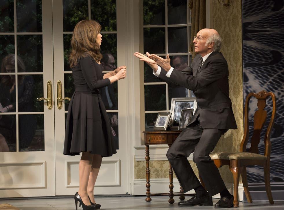 Larry David and Rosie Perez in 'Fish in the Dark'