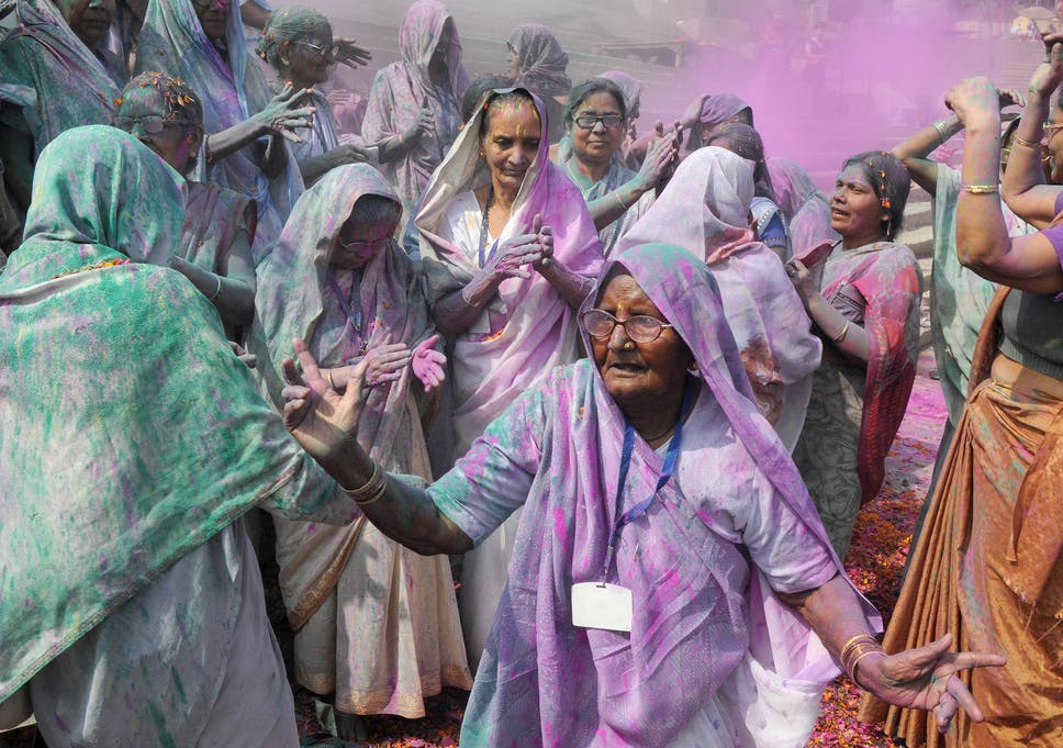 Essays On Science Indian Villagers Are Covered In Coloured Powder During The Lathmar Holi  Festival At The Radha Rani Compare And Contrast Essay Examples For High School also How To Write An Essay Proposal Holi  Why Is The Festival Of Colours Important And How Do  Starting A Business Essay