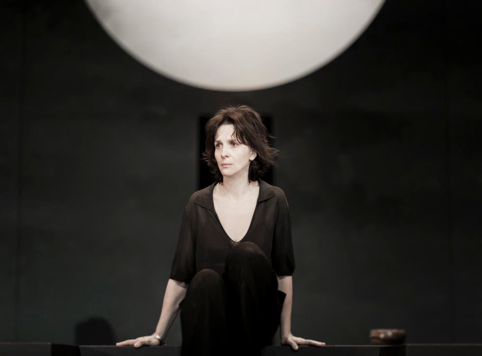 Juliette Binoche as Antigone at the Barbican