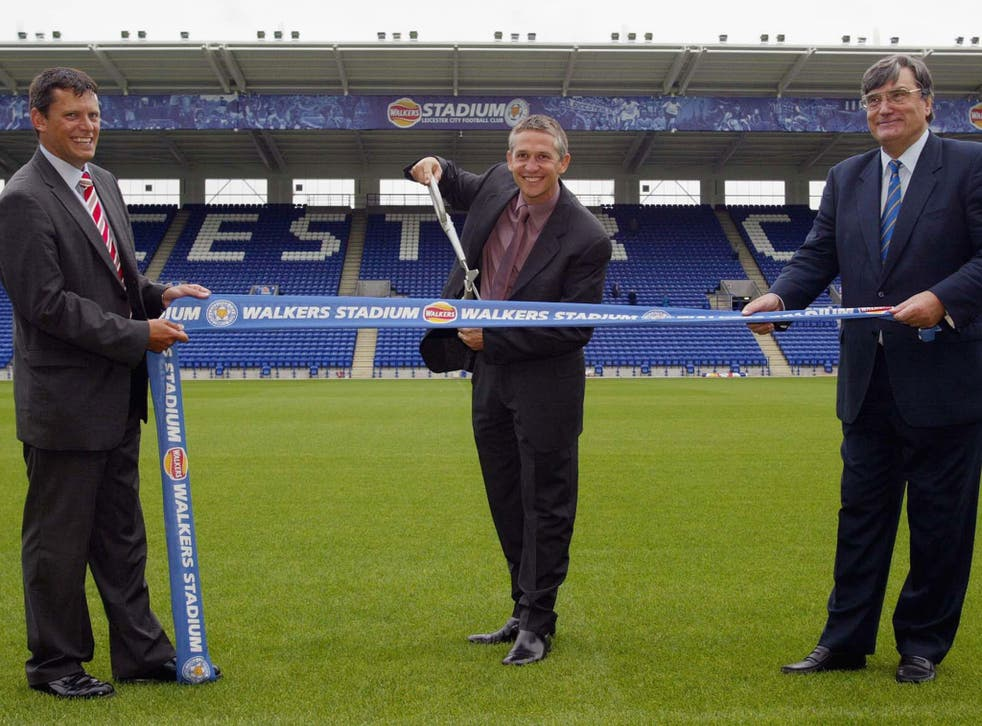 Martin Glenn (left) and Gary Lineker in the early days of their Walkers partnership
