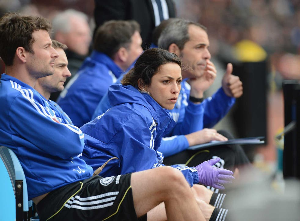 Dr Carneiro watches the players carefully from the sidelines