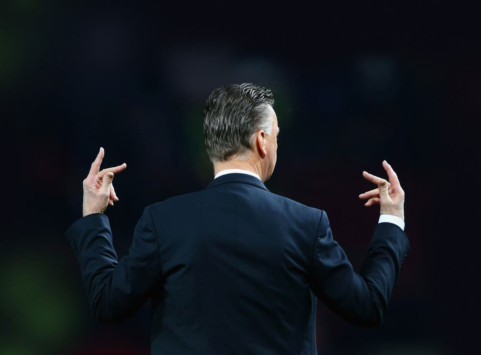 'I am always a fact man,' says Louis van Gaal. 'Facts are what count, not what you are saying'