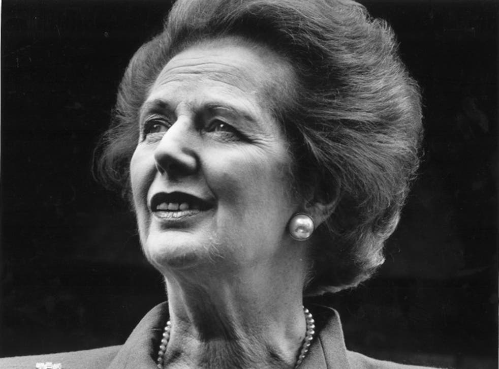 Margaret Thatcher resigning in June 1991