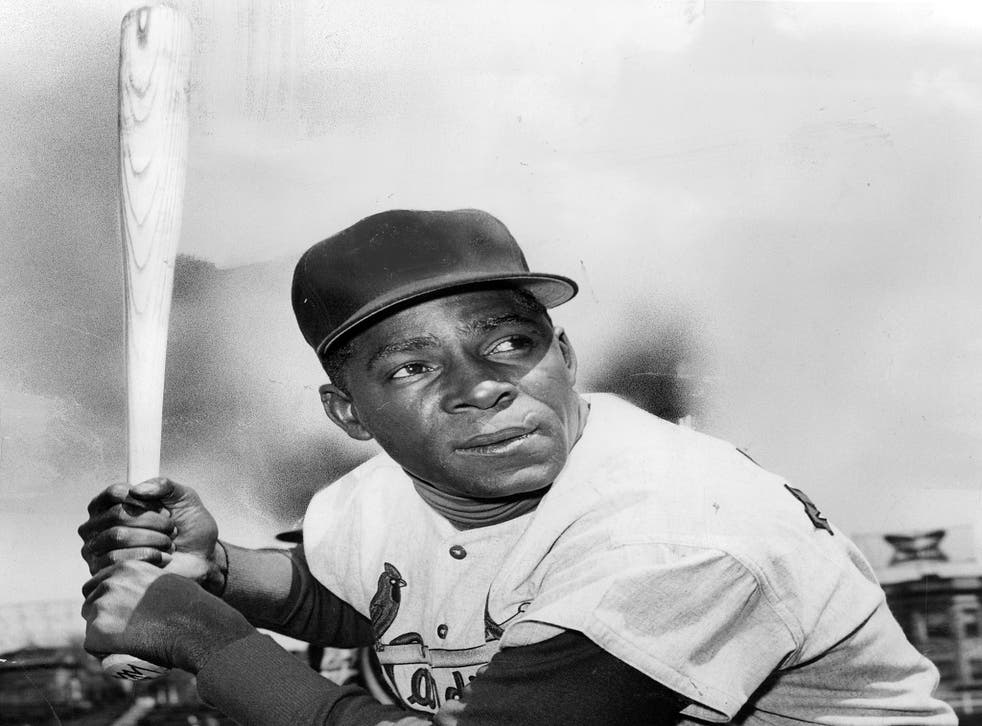 Minnie Minoso of the St. Louis Cardinals at Wrigley Field during a Cardinals game against the Chicago Cubs in April 1962