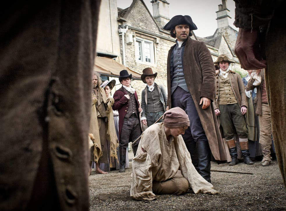Breeches of the peace: Eleanor Tomlinson and Aidan Turner in 'Poldark'