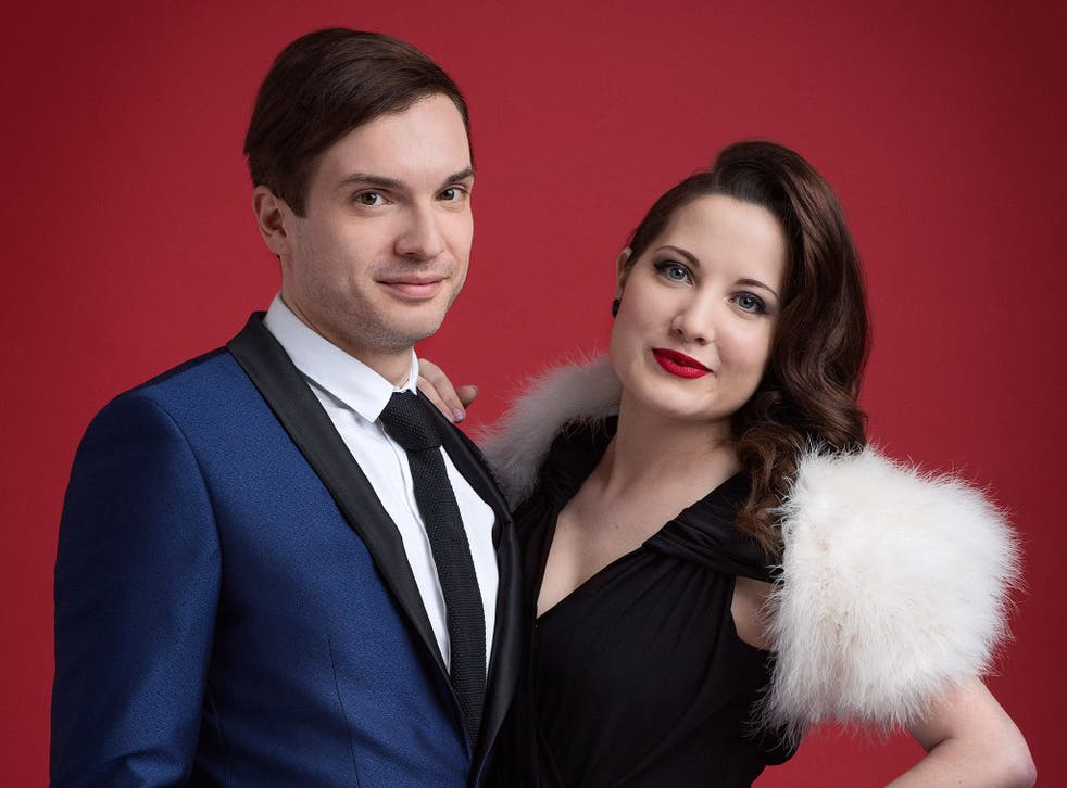 Alex Larke and Bianca Nicholas of Electro Velvet, the UK's entrants for this year's Eurovision contest