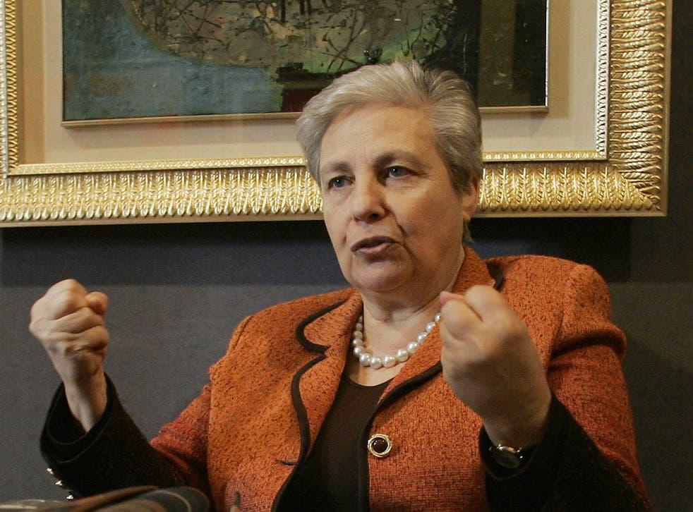Sicilian politician and anti-Mafia activist, Rita Borsellino