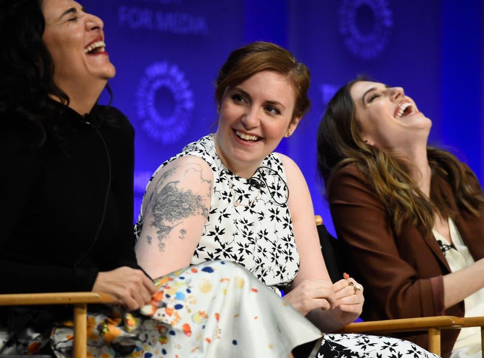 (L-R) Executive producer Jennifer Konner, creator/executive producer Lena Dunham and actress Allison Williams