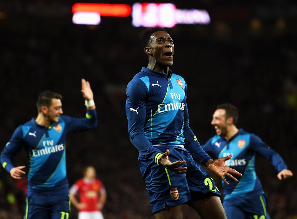 Danny Welbeck celebrates after making it 2-1