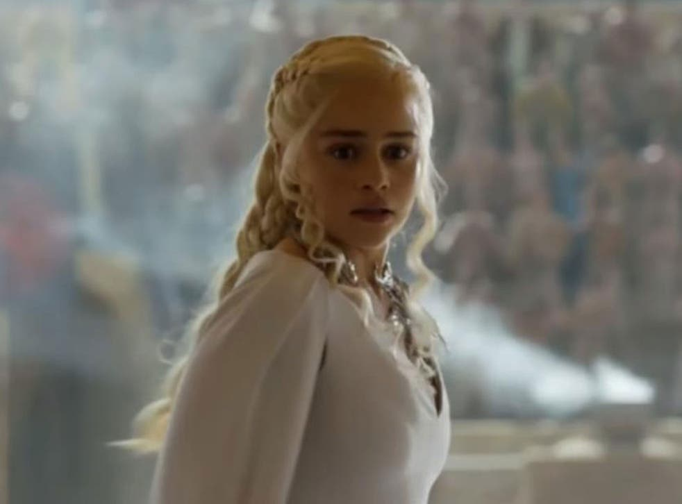 Daenerys  in the new Game of Thrones season 5 trailer