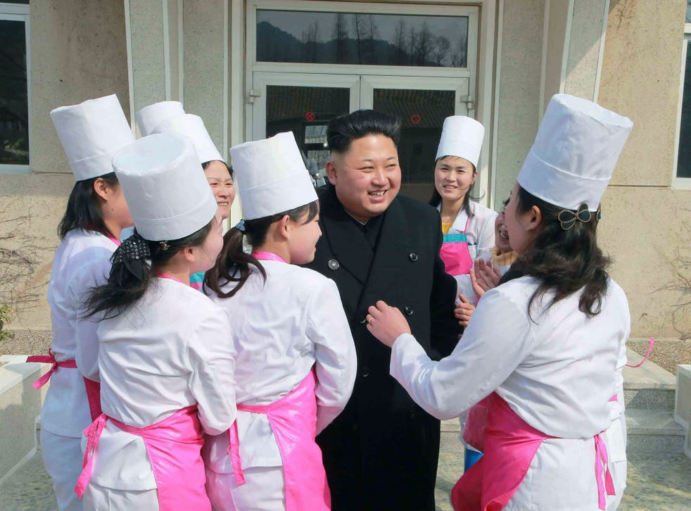North Korean leader Kim Jong Un smiles during his inspection of Unit 1016 of KPA (Korean People's Army) Air and Anti-Air Force honored with the Title of O Jung Hup-led 7th Regiment, in Pyongyang