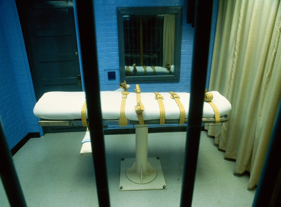 A lethal injection death chamber in a prison in Huntsville, Texas