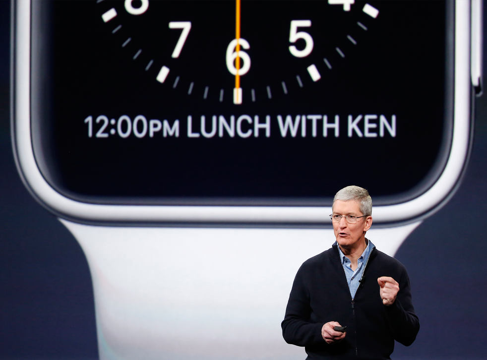 Apple CEO Tim Cook announces the Apple Watch in March – but did he remember to meet Ken for lunch?