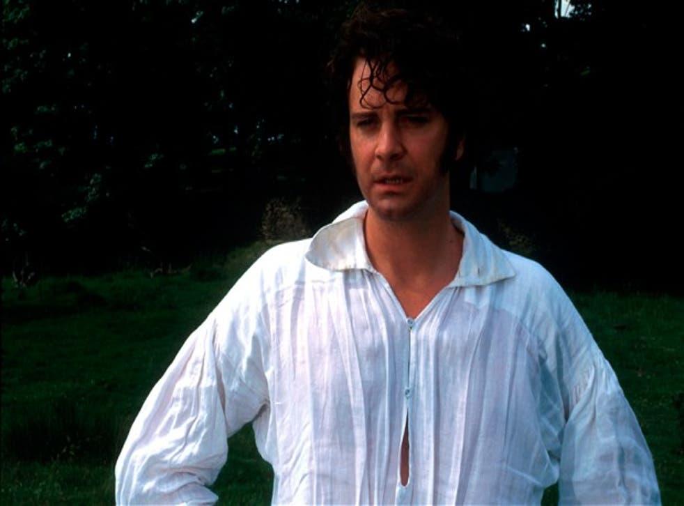 Colin Firth as Mr Darcy in the BBC adaptation of Pride and Prejudice