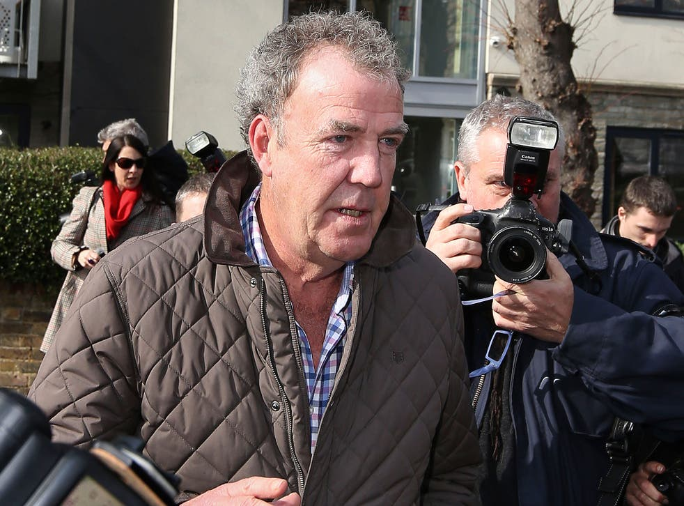 Jeremy Clarkson leaves his home in London following his suspension from Top Gear