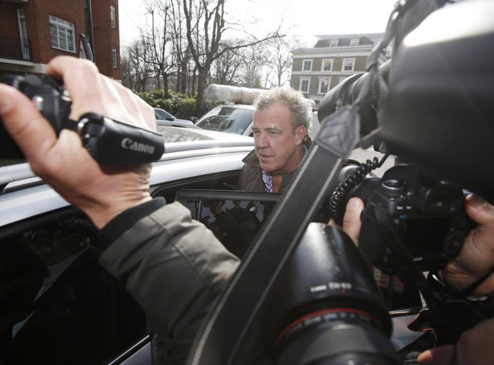 Fighting talk: Jeremy Clarkson after his suspension from the BBC