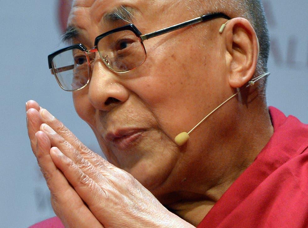The Tibetan spiritual leader the Dalai Lama