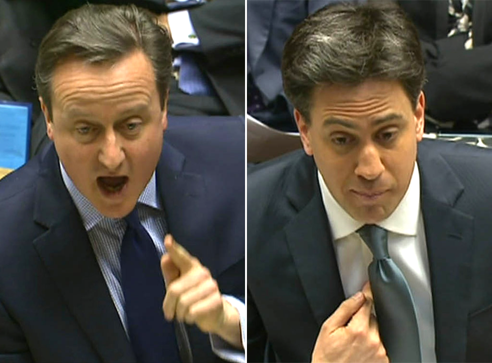 David Cameron and Ed Miliband clashed in the Commons at PMQs on Wednesday