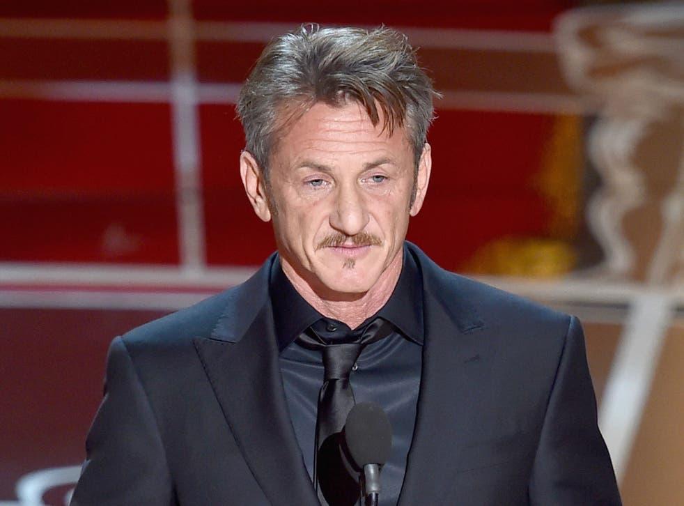 Sean Penn at the 87th Annual Academy Awards
