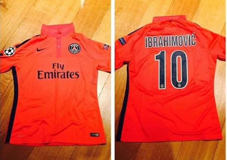 online store 9c580 8ddc3 Brooklyn Beckham gets Zlatan Ibrahimovic's shirt after PSG ...