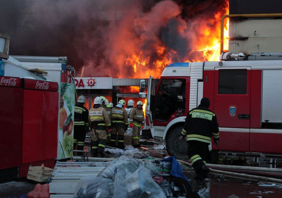 Massive fire in Russian shopping centre leaves five dead and