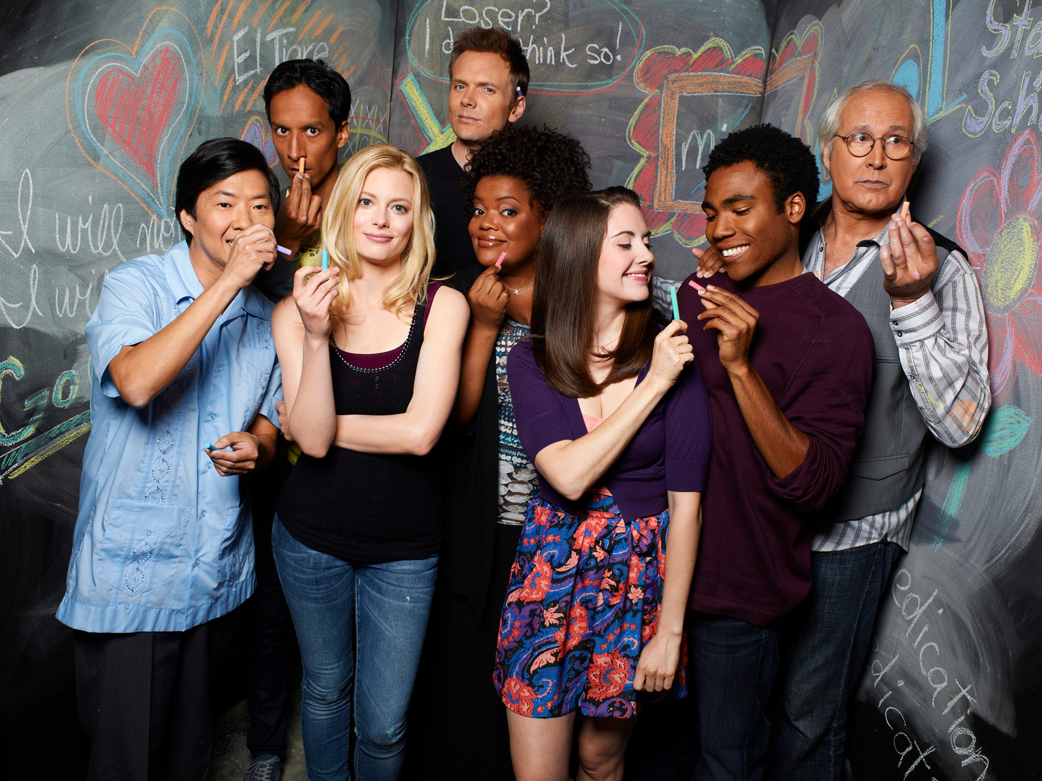 Community is back celebrating the return of a sitcom that for Community tv show pool episode
