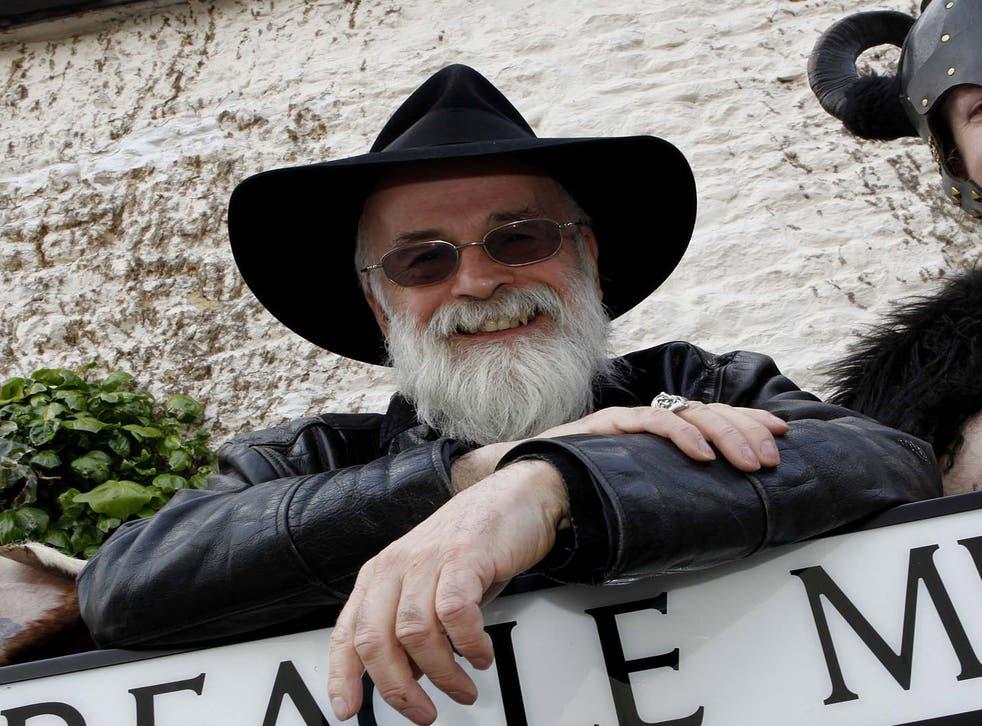 Terry Pratchett in April 2009
