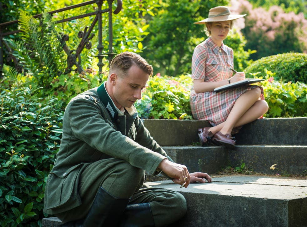 Nazi officer Matthias Schoenaerts embarks on an affair with married French woman Michelle Williams in 'Suite Francaise'