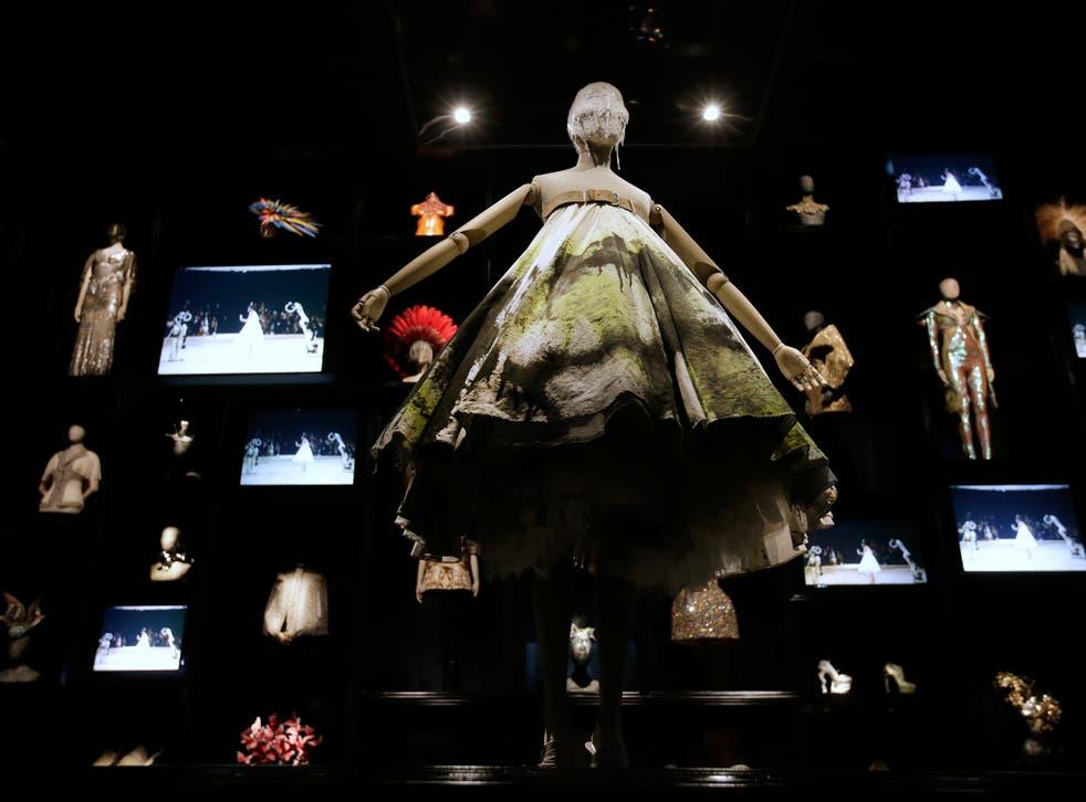A dress from the 2008 Alexander McQueen show