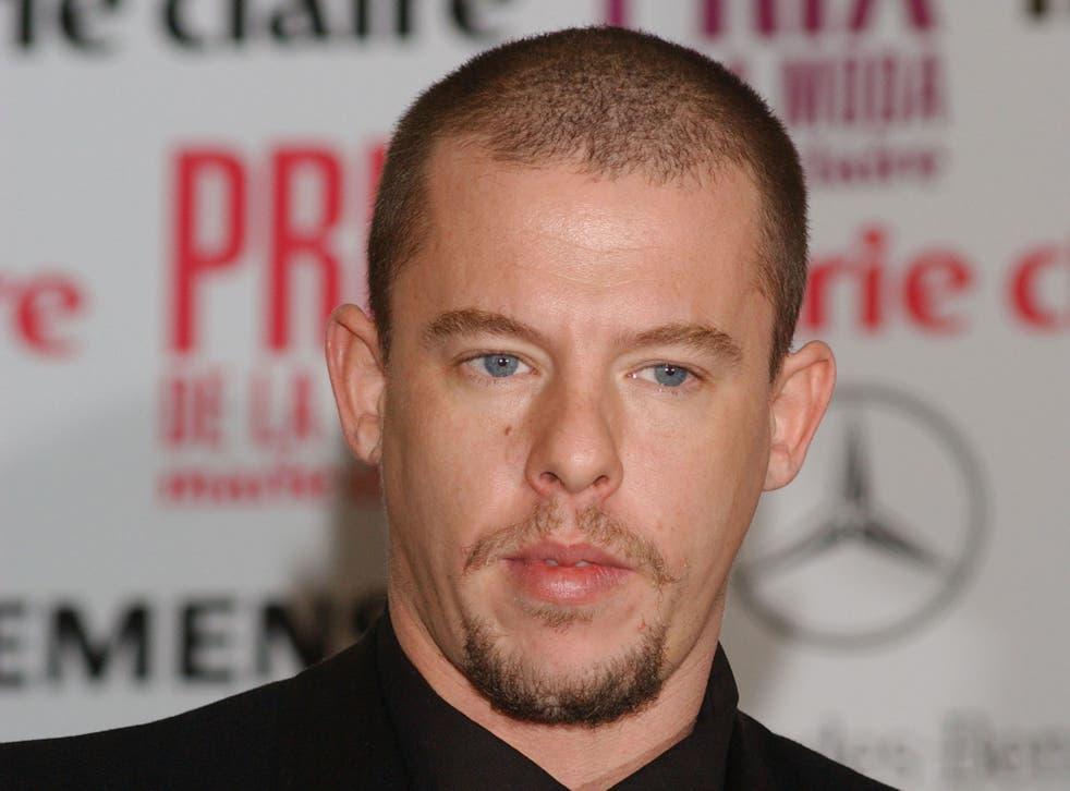 Alexander McQueen pictured in 2003
