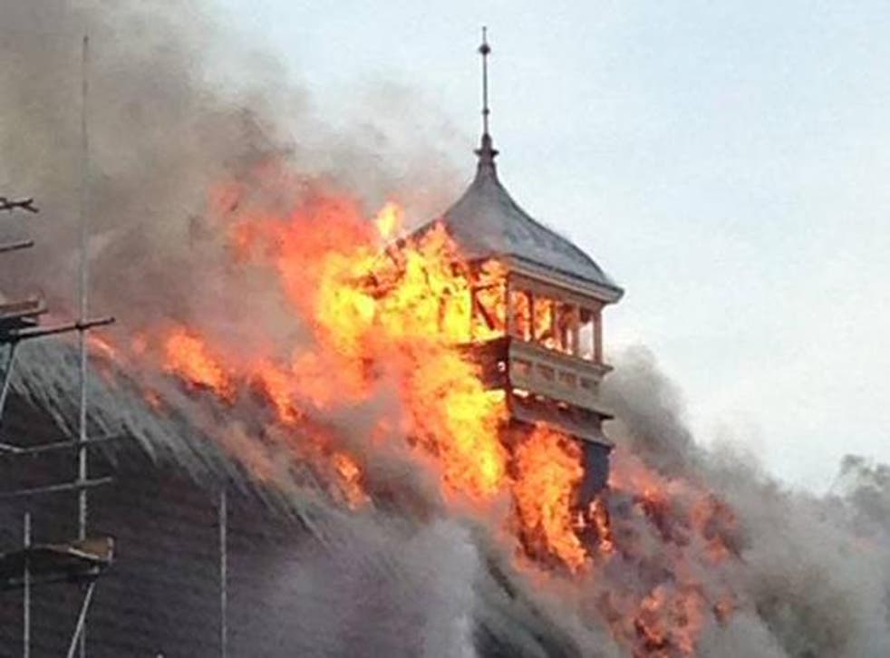A large fire has broken out in London's historic Battersea Arts Centre