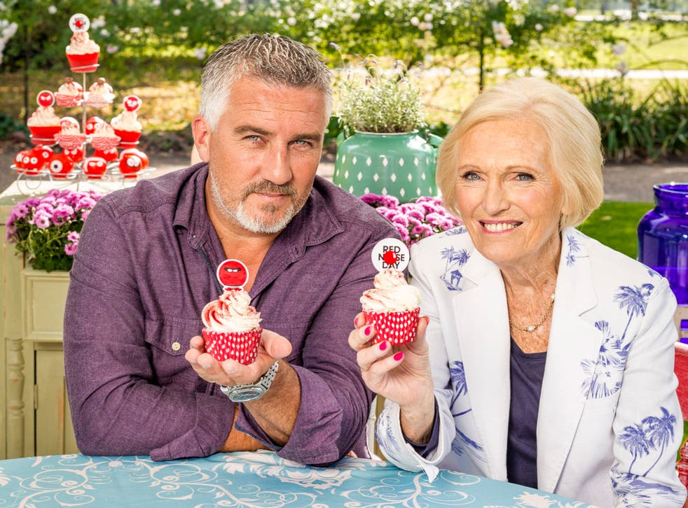 Paul Hollywood and Mary Berry, the presenters of The Great Comic Relief Bake Off 2015