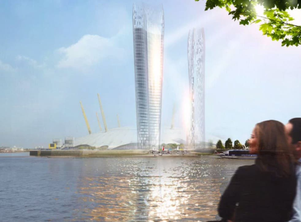 """International architecture NBBJ firm has designed a pair of """"no-shadow towers"""""""